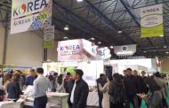 한국 아삭한 배…'카자흐 식품박람회'서 열띤 호응