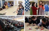 카자흐스탄 영재학교에서 한국문화 체험 행사
