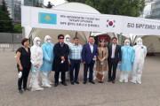 한국의료법인, 알마티 현지에 드라이브 스루 설치하고 진단 시작