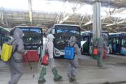 누르-술탄 시내버스와 차고, 20~21일 양일간 대대적인 방역작업
