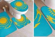 카자흐스탄의 국기문양 화장실 매트,  아마존에서 판매