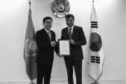코오롱제약, 카자흐스탄에 독감치료제 기부