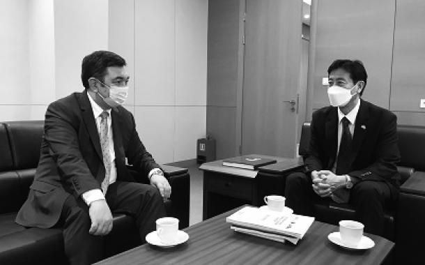 구홍석 대사, 국제 투르크 아카데미 총장 면담